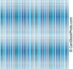 retro, fondo azul, con, puntos