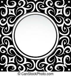 Retro frame - Decorative frame design in oriental style with...
