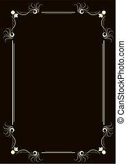 Retro frame - Editable vector retro style frame