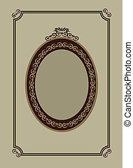 retro frame of mirror, vector illustration -1