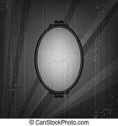Retro frame on old grunge background.
