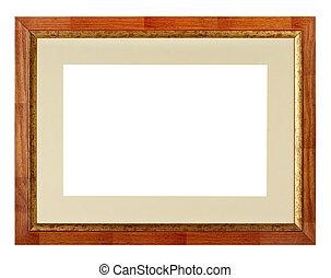 Retro frame on white background