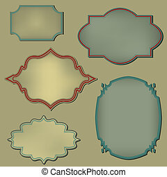 Retro frame. Set. Vector illustration
