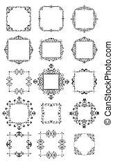 Retro frames (black and white)