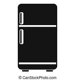 Retro fridge icon, simple style