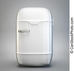 fridge - retro fridge isolated on a grey background