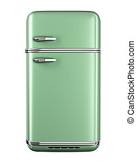 retro, frigorifero