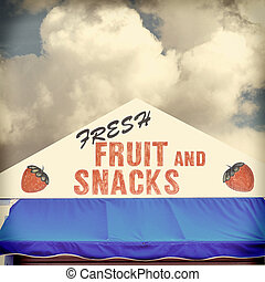Retro Fruit Stand Sign