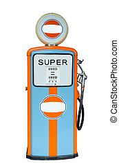 Retro Fuel Dispenser isolated on white background