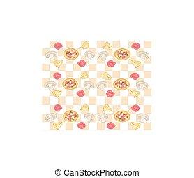 retro, fundo, pizza