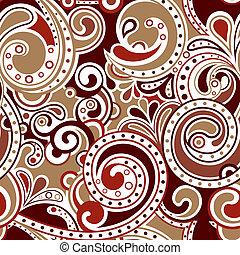 Retro Funky Scroll Pattern 2