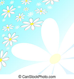 retro, gänseblümchen