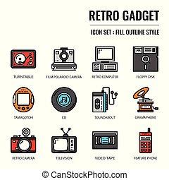 retro gadget, pixel perfect icon, isolated on white...