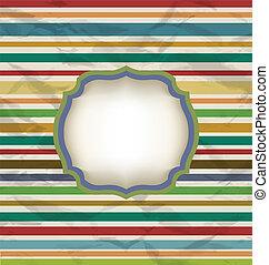 retro, galon, mönster, färgrik, årgång, bakgrund