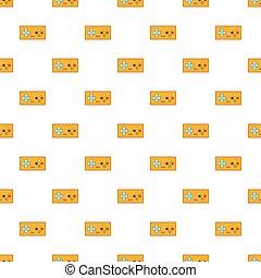Retro game controller pattern, cartoon style