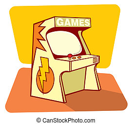 Retro games console - Vector illustration of a retro game ...