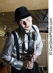 Retro gangster singer