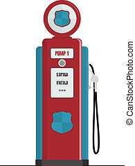Retro Gas Pump, isolated vector illustrations