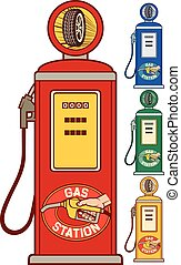 retro gasoline pump (gas station)