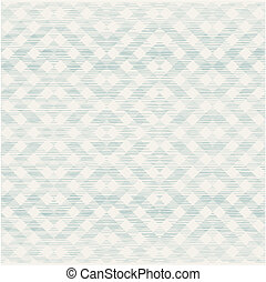 retro, geométrico, seamless, patrón, con, tela, textura, en