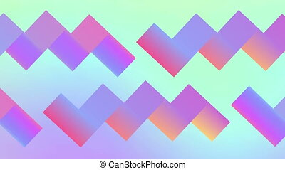 Retro geometric abstract background 80s and 90s. Seamless loop