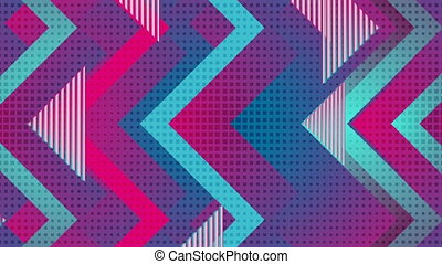 Retro geometric abstract blue violet motion background