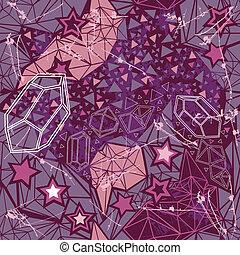 Retro geometric pattern on dark background.
