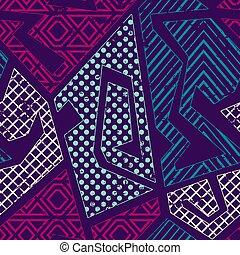 Retro geometric pattern with grunge effect