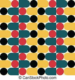 Retro geometric seamless pattern . Vector illustration