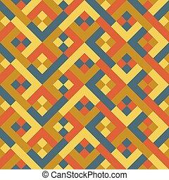 retro, geometryczny, seamless, pattern., wektor, illustration.