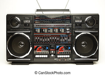retro ghettoblaster - a fantastic looking oversized black...