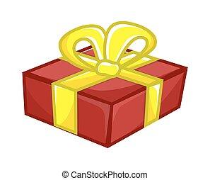 Retro Gift Box Vector Design