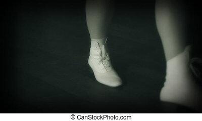 Retro girl dancing