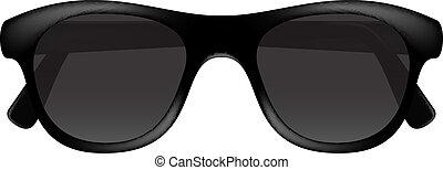 Retro glasses in dark design
