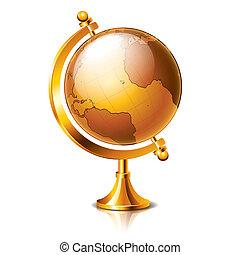 Retro Globe isolated on white vector