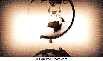 Retro Globe TV Static Loop