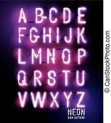 Retro Glowing Neon Lettering