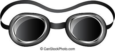 Retro goggles isolated on white background