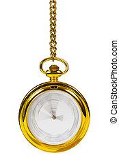 Retro gold clock - time passing concept