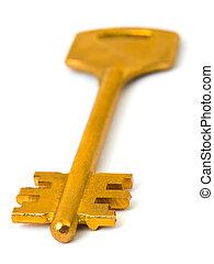 Retro gold key