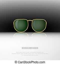 Retro gold sunglasses