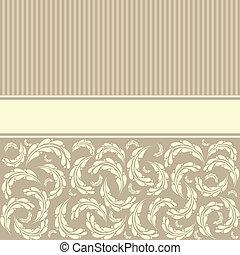retro, grüßen karte, schablone, design