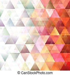 Retro gradient triangle pattern background