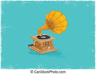 retro , gramaphone