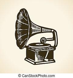 Retro gramophone - Old retro gramophone
