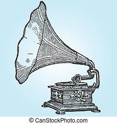 retro, gramophone