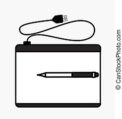 Retro Graphic Tablet with Pen