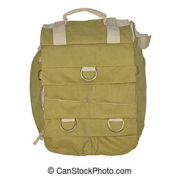 Retro green brown backpack