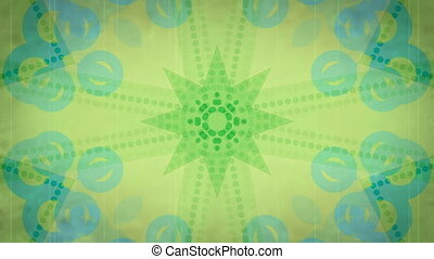 Retro Green Looping Background
