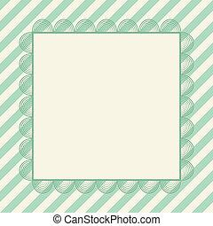 Retro greeting card template design